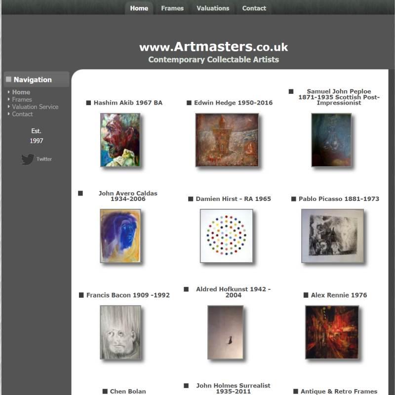 Artmasters website