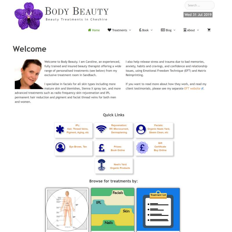 Body Beauty website
