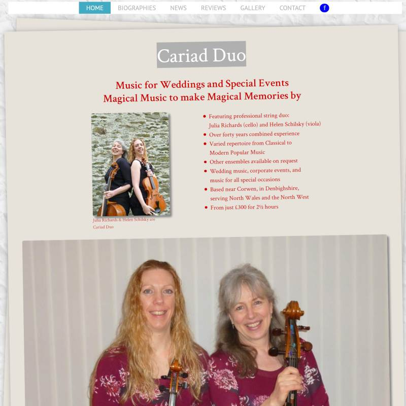 Cariad Duo website