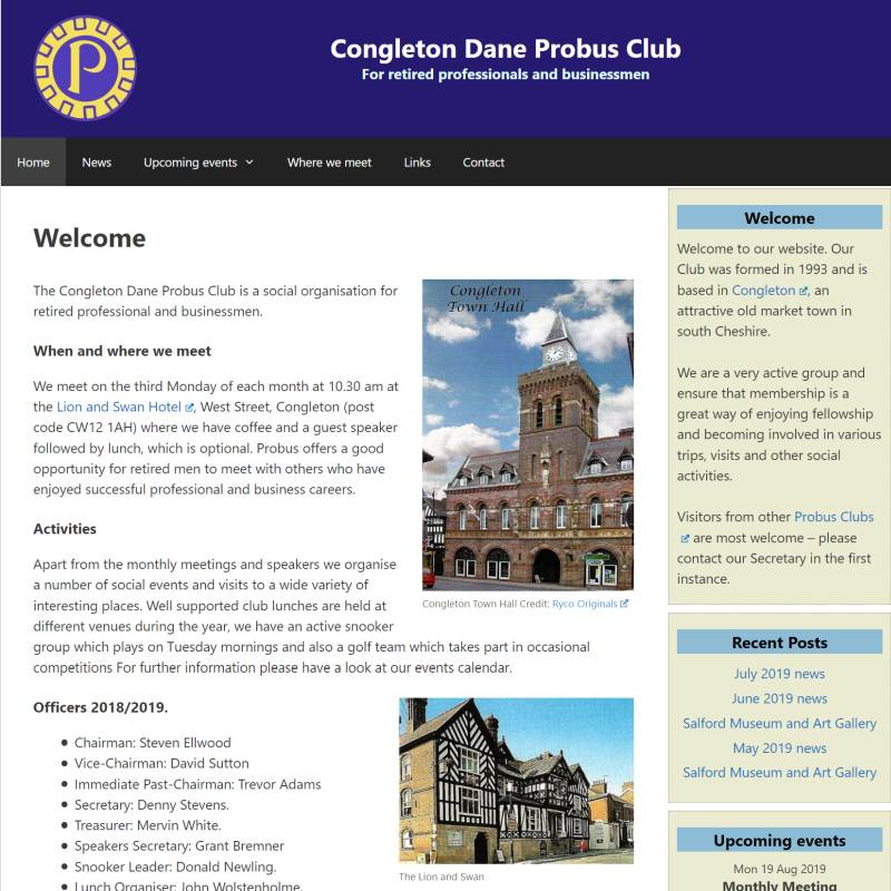 Congleton Dane Probus Club website