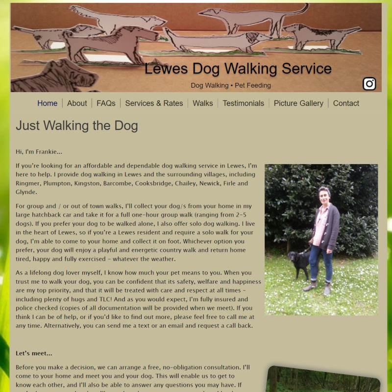Dog Walker Lewes website
