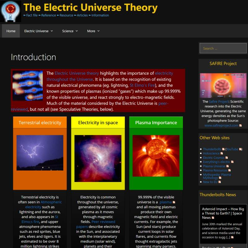 Electric Universe website