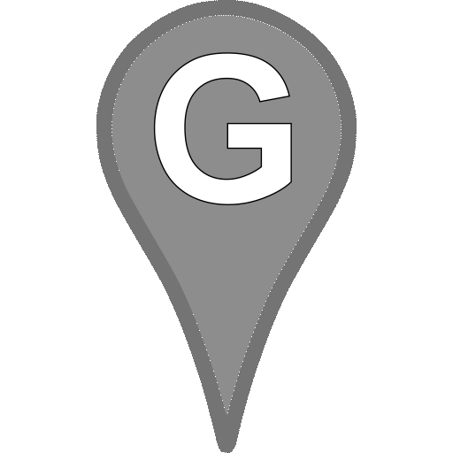 Google Map pin bw