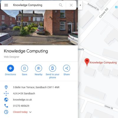 Knowledge Computing Google Map listing