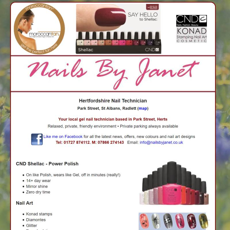 Nails by Janet website