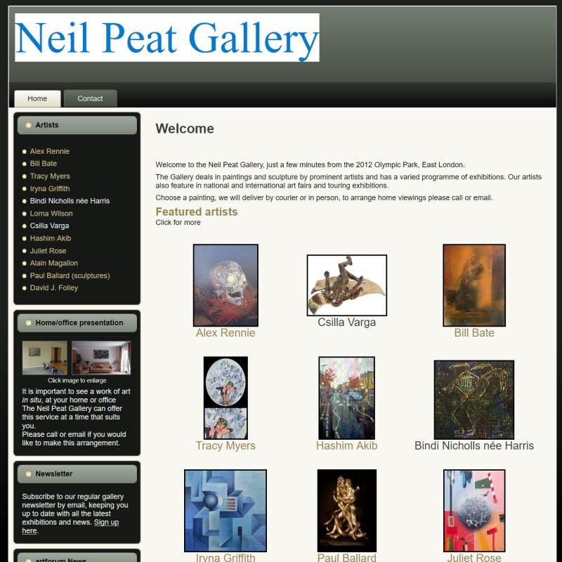 Neil Peat Gallery website