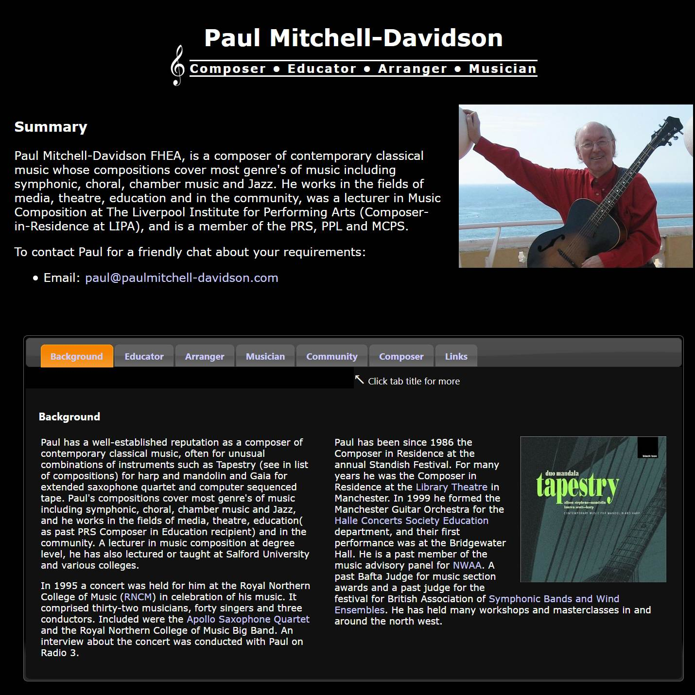 Paul Mitchell-Davidson website