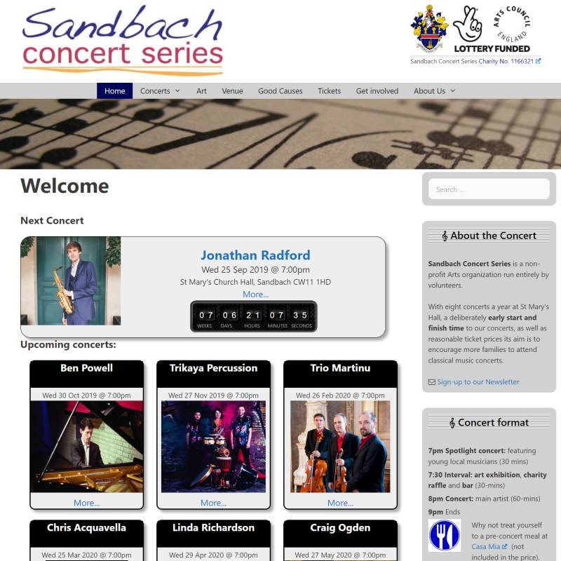 Sandbach Concert Series website