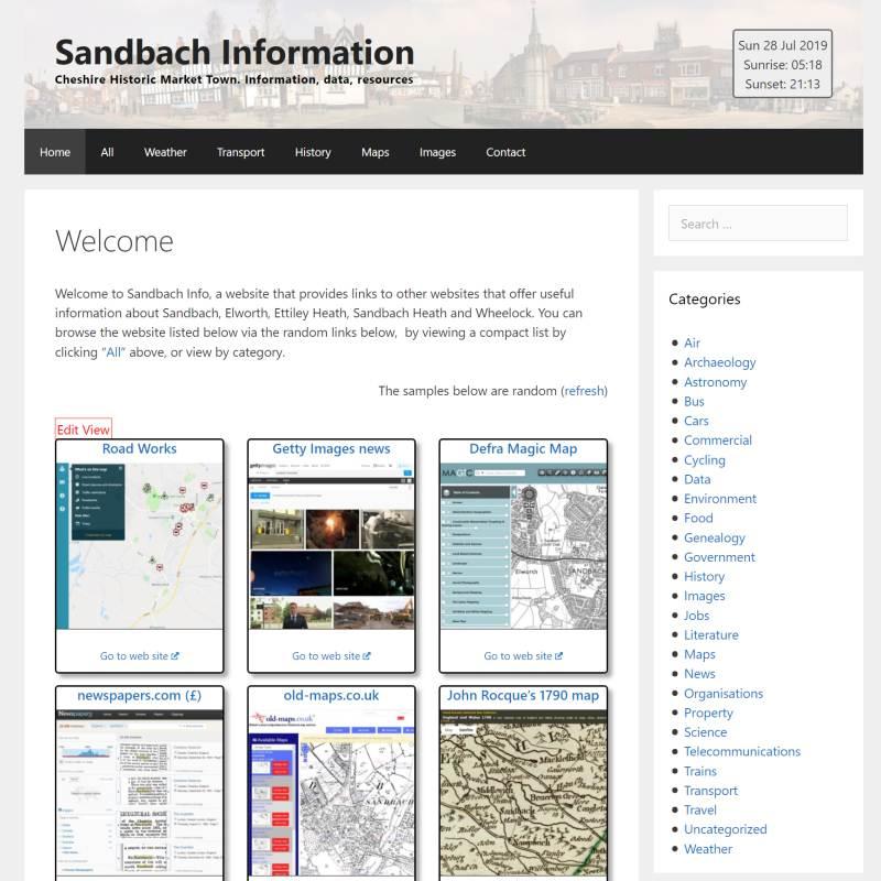 Sandbach Info website