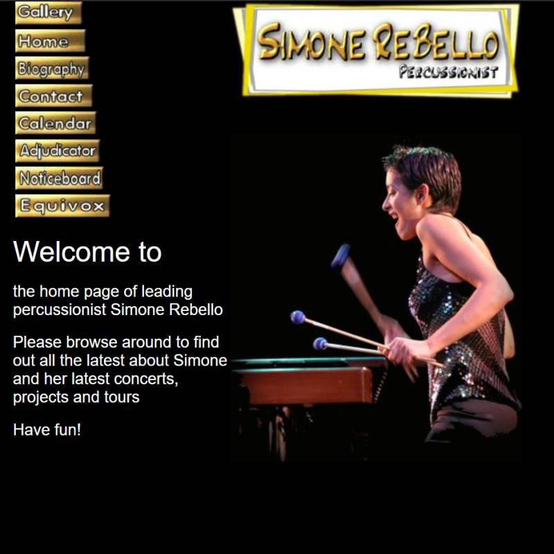 Simone Rebello website