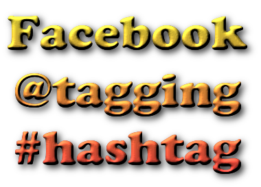 Facebook tagging hashtags