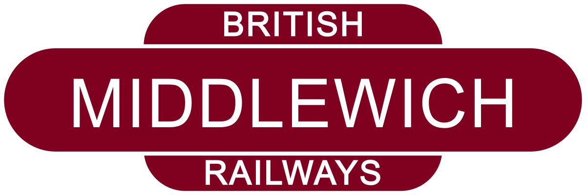 Middlewich Railway Station sign