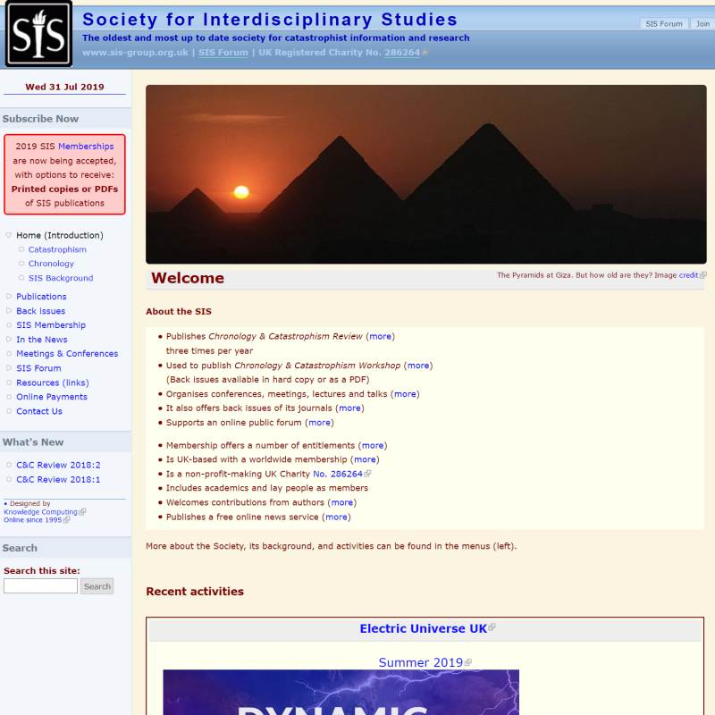 Society for Interdisciplinary Studies website
