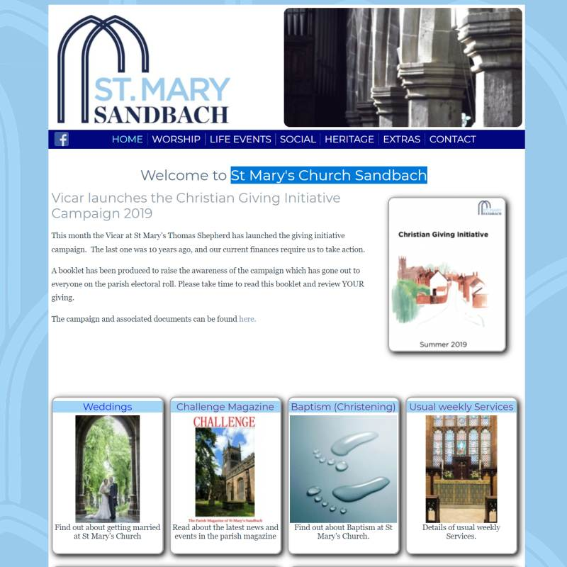 St Mary's Church Sandbach website