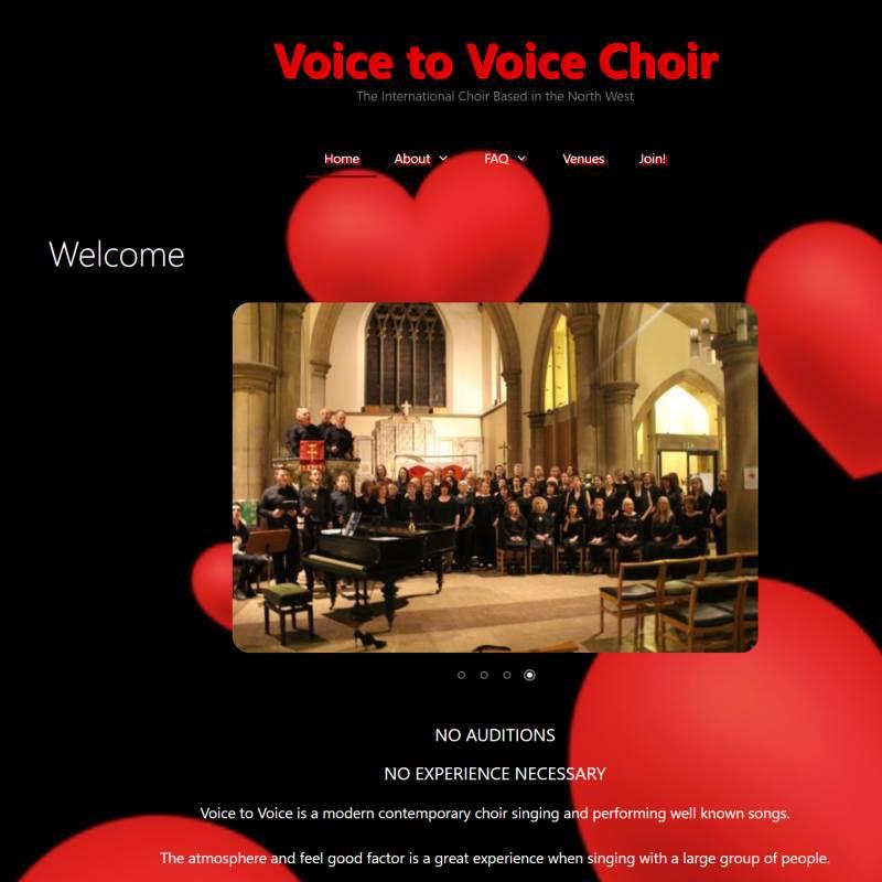 Voice to Voice Choir website